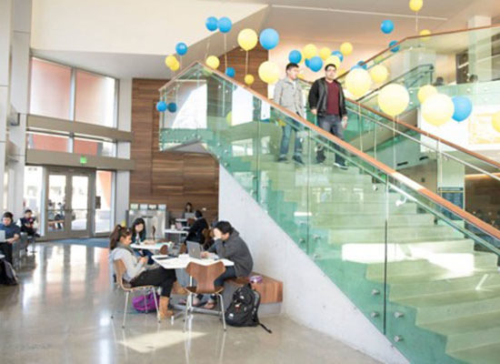 MLK Student Union Glass Stairs